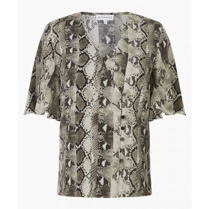 Image for Snake print button side top