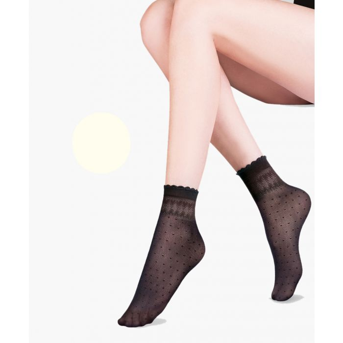 Image for Pia ecru ankle socks 20 denier