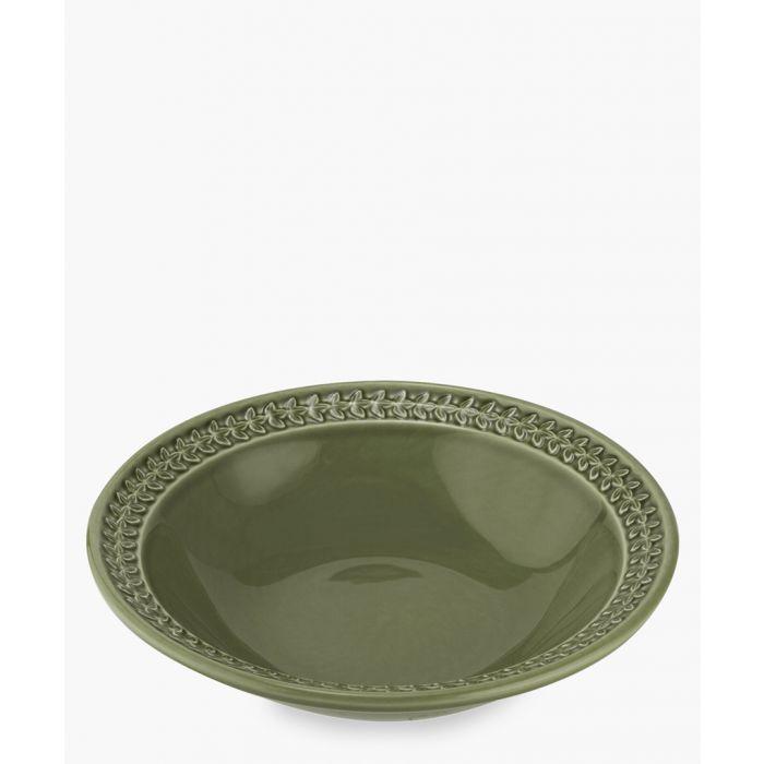 Image for 4pc Botanic Garden Harmony forest green pasta bowl set