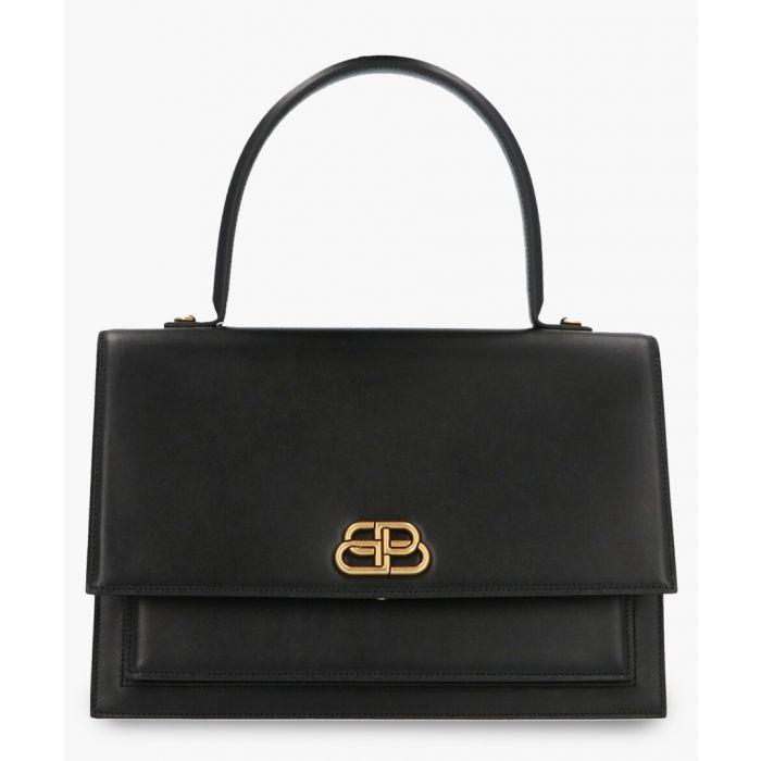 Image for Sharp black leather satchel