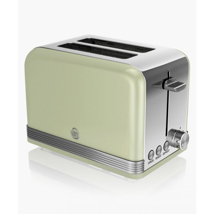 Image for Green retro 2-slice toaster