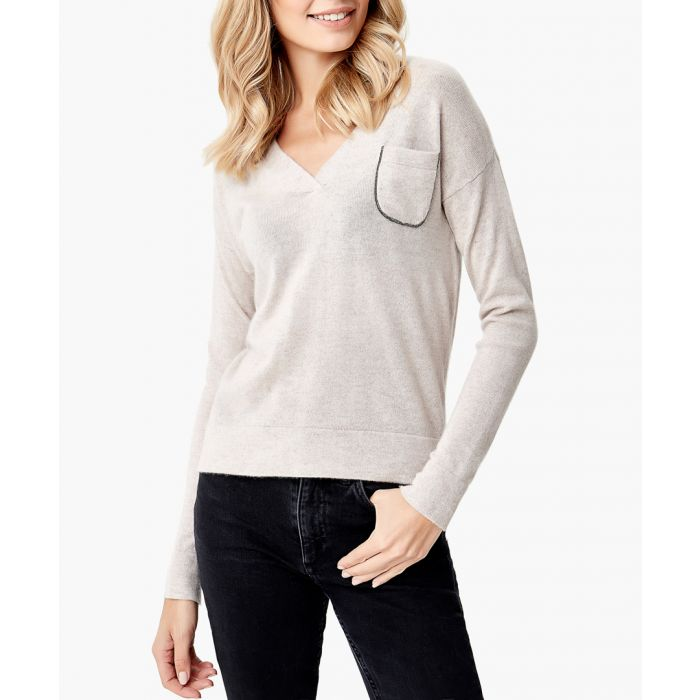 Image for Light beige cashmere jumper