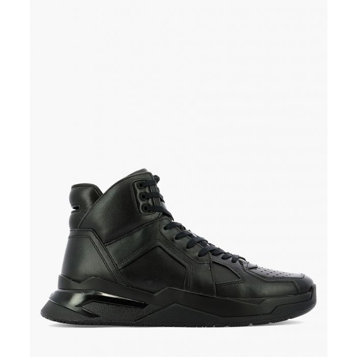 Image for B-ball black leather high-top trainers