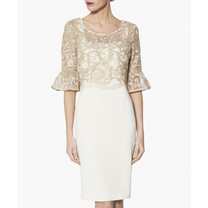 Image for Marta beige overlay dress