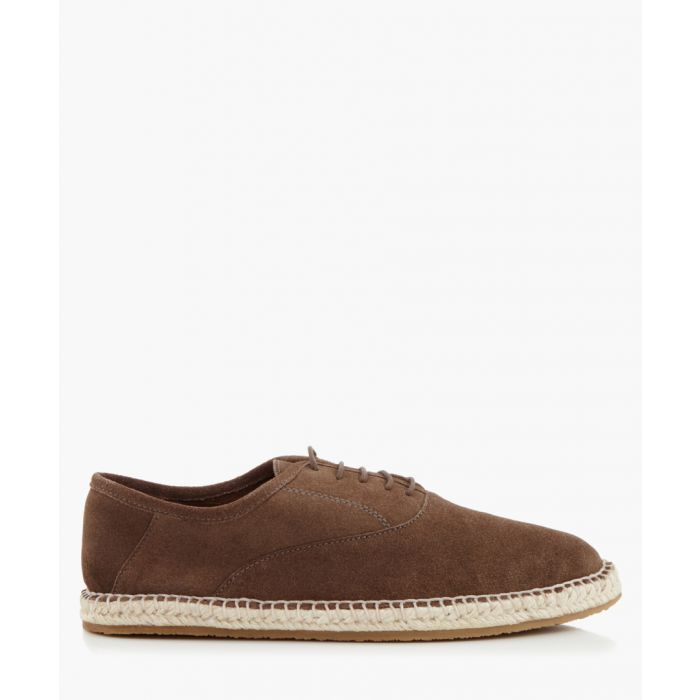 Image for Redhill grey suede lace-up espadrilles