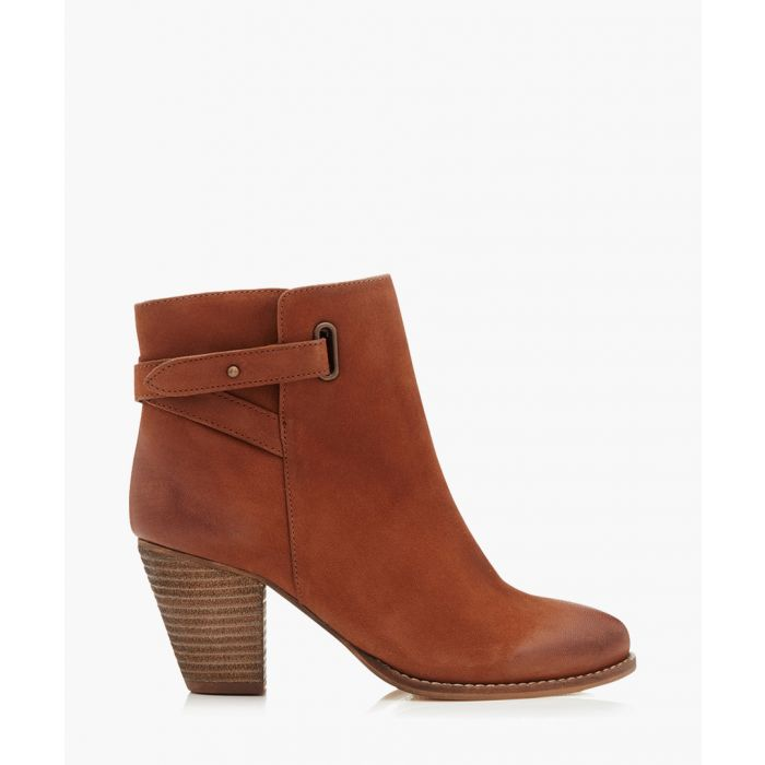Image for Smart tan suede heeled ankle boots