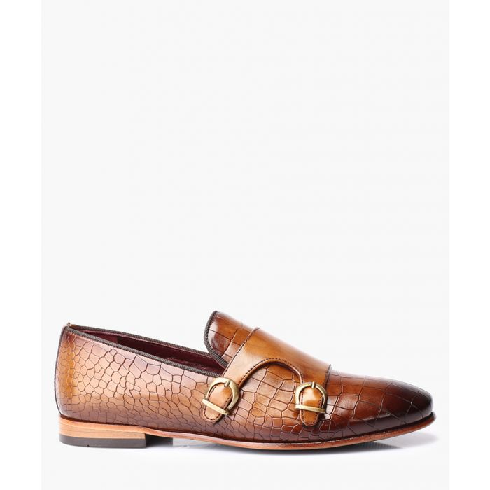 Image for Brown leather monkstrap shoes
