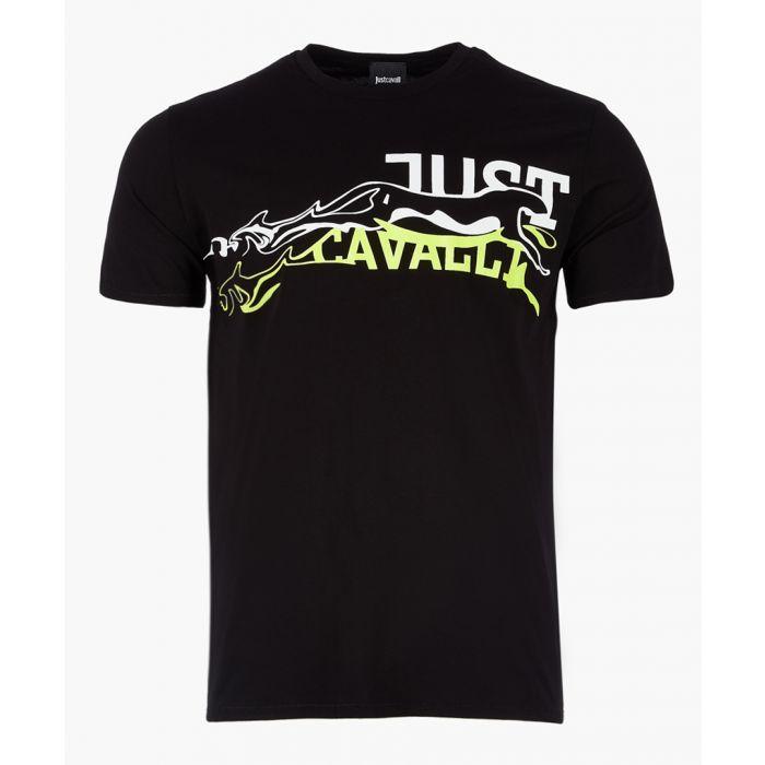 Image for Black pure cotton graphic logo T-shirt
