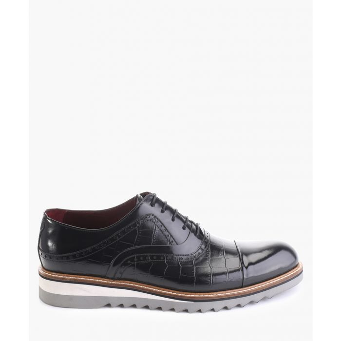 Image for Black high-shine leather oxford shoes