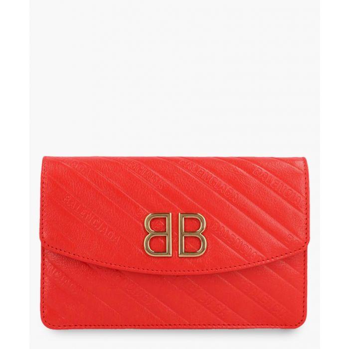 Image for BB red leather shoulder bag