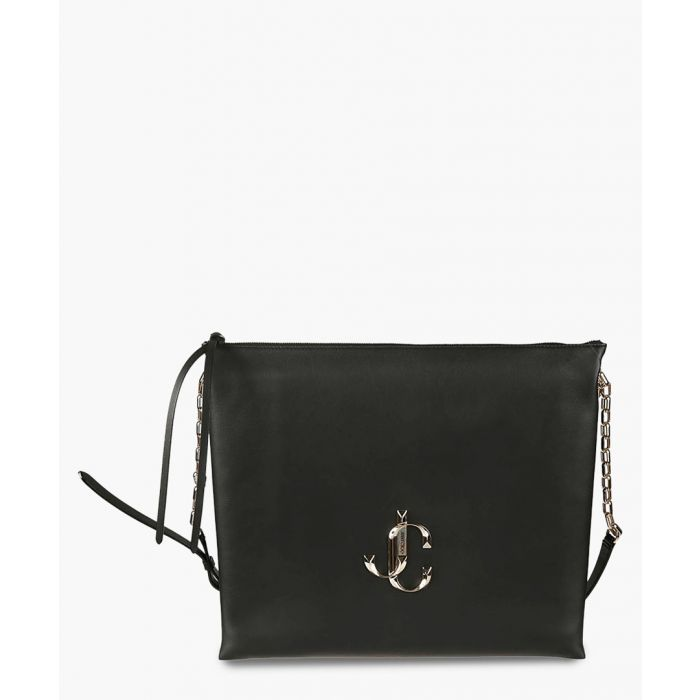 Image for Varenne black suede shoulder bag