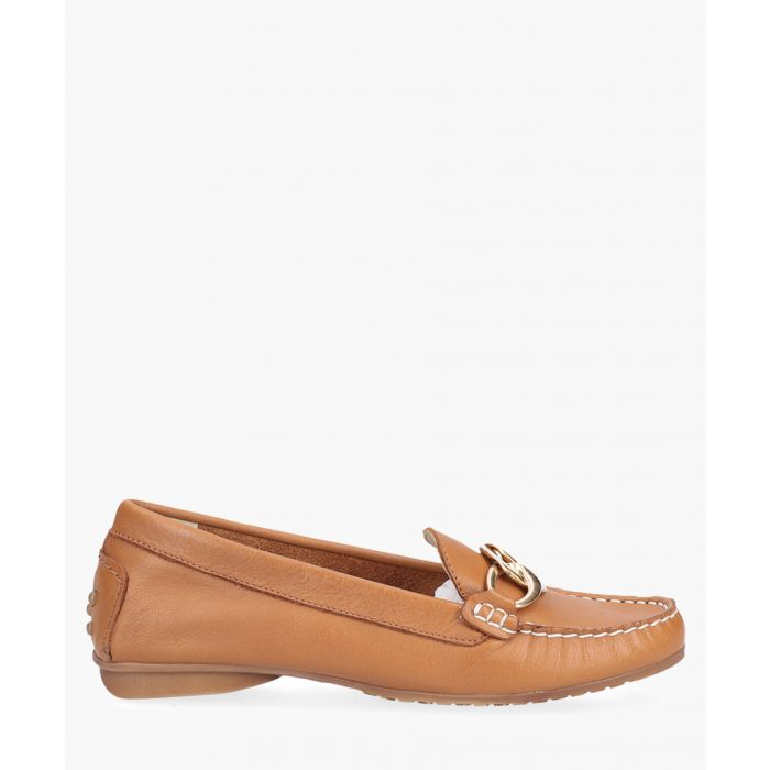 Image for Flavia camel leather slip-on shoes