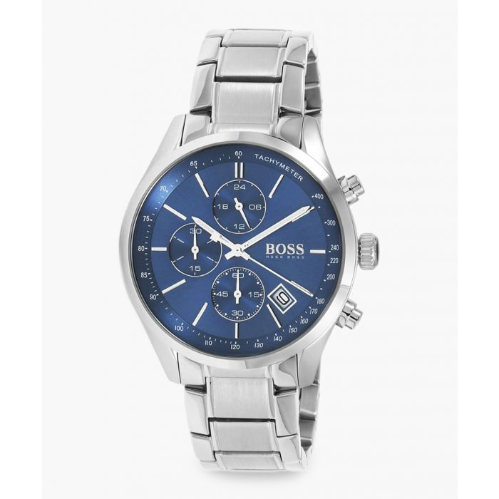 Image for Silver-tone and blue steel watch