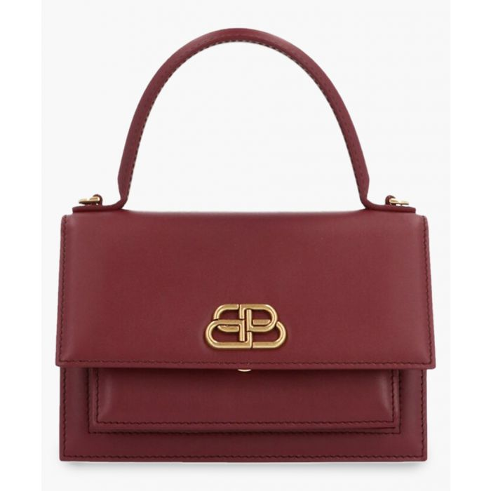 Image for Sharp XS bordeaux leather tote