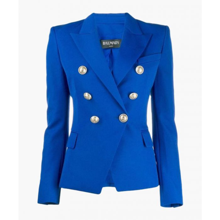 Image for Blue pure wool double breasted blazer