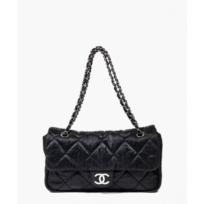 Image for Vintage black flap bag