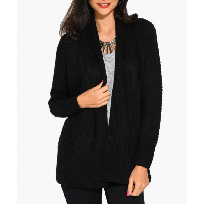 Image for Black cashmere and mohair blend cardigan