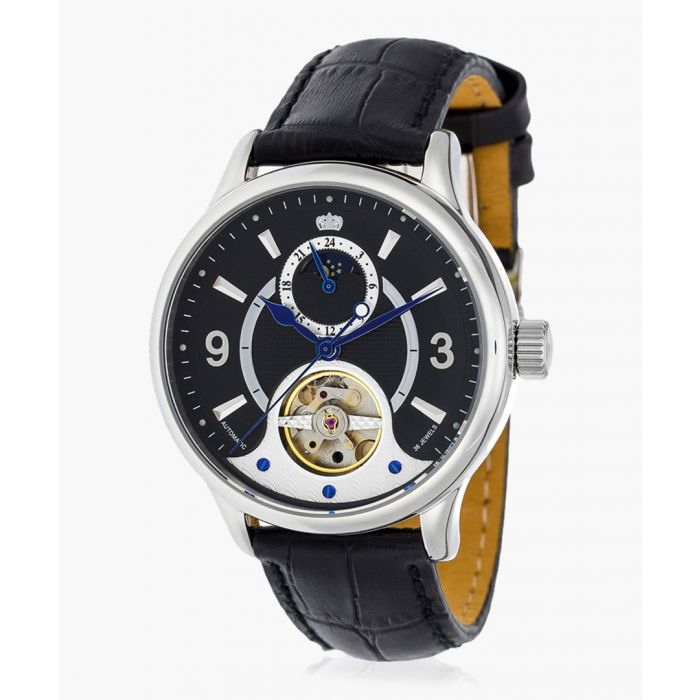 Image for Stella black leather watch