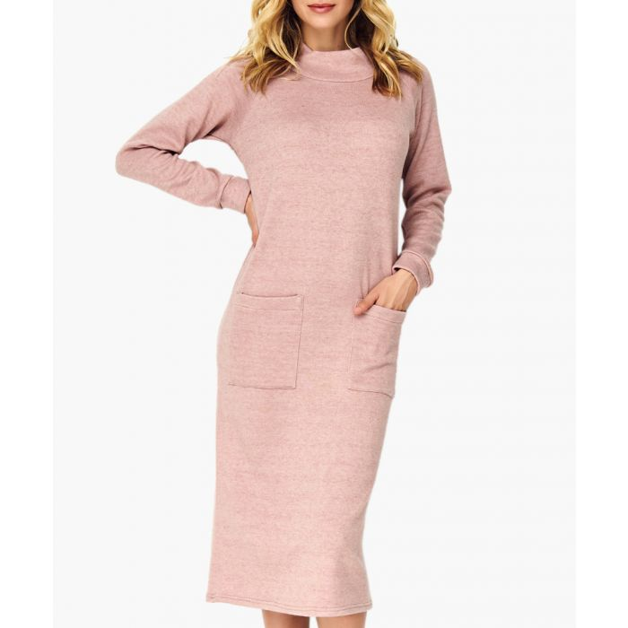 Image for Dirty pink knitted dress