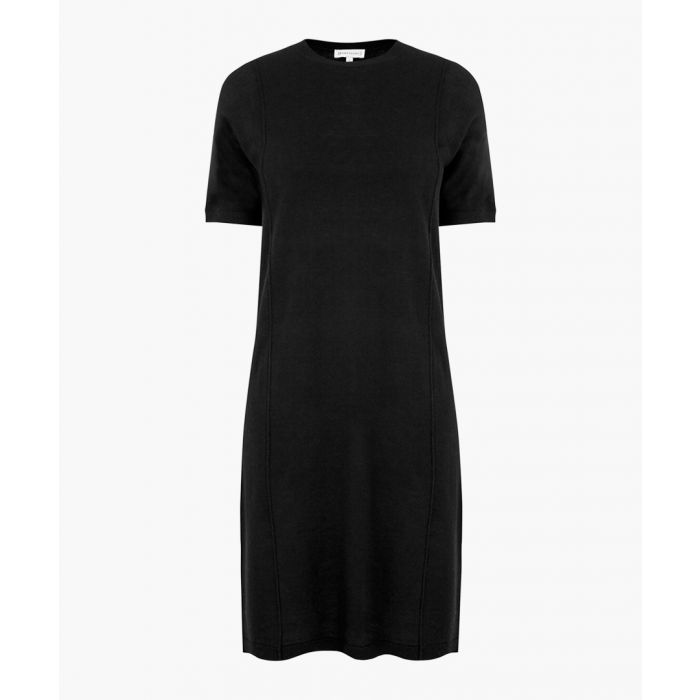 Image for Black T-shirt knit dress