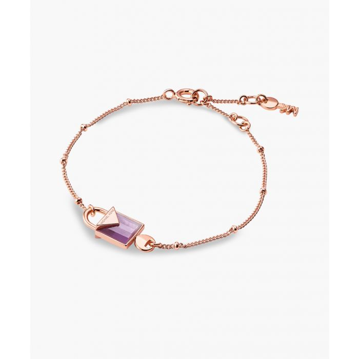 Image for Rose gold-plated and purple amethyst bracelet