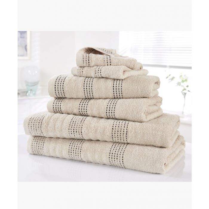 Image for 6pc Taupe cotton towel bale set