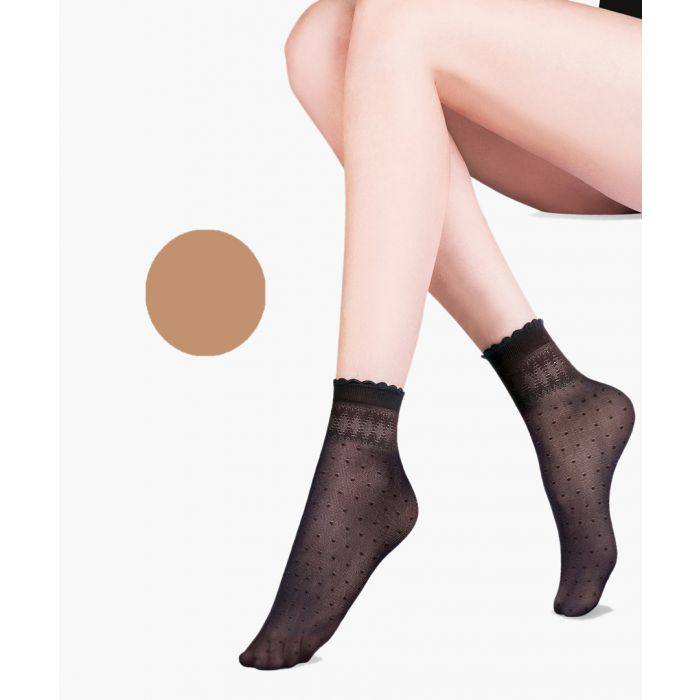 Image for Pia beige ankle socks 20 denier