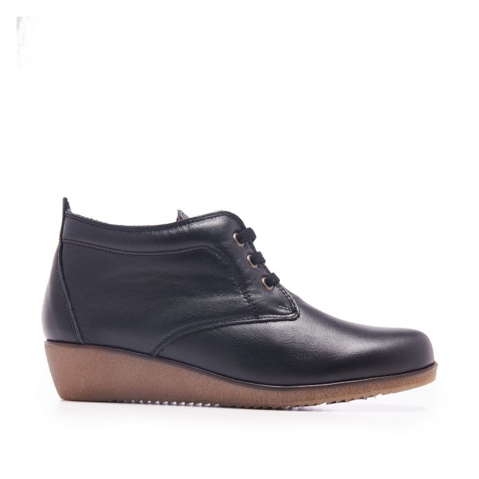 Image for Lace Up Leather Booties for Men Castellanisimos