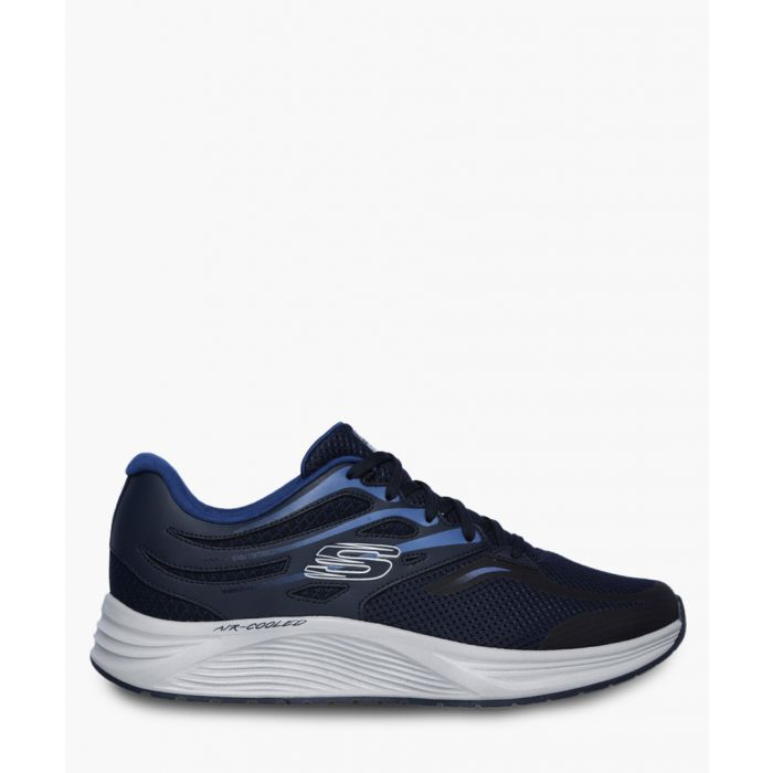 Image for Skyline navy lace-up trainers