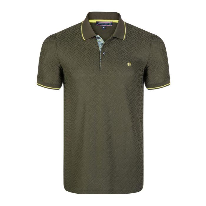Image for Khaki short sleeve polo shirt