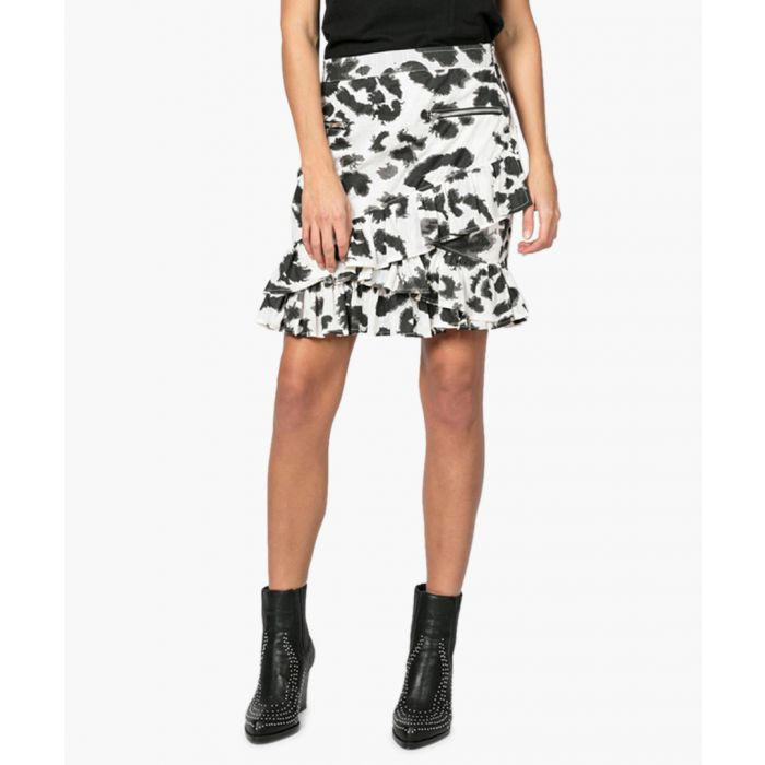 Image for Reward monochrome wild print skirt