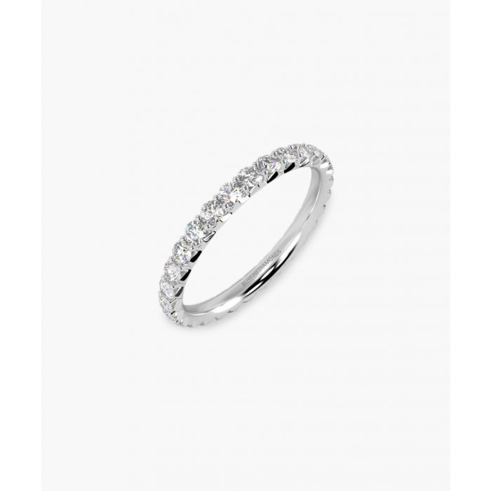 Image for 18k white gold and 1.00ct diamond ring