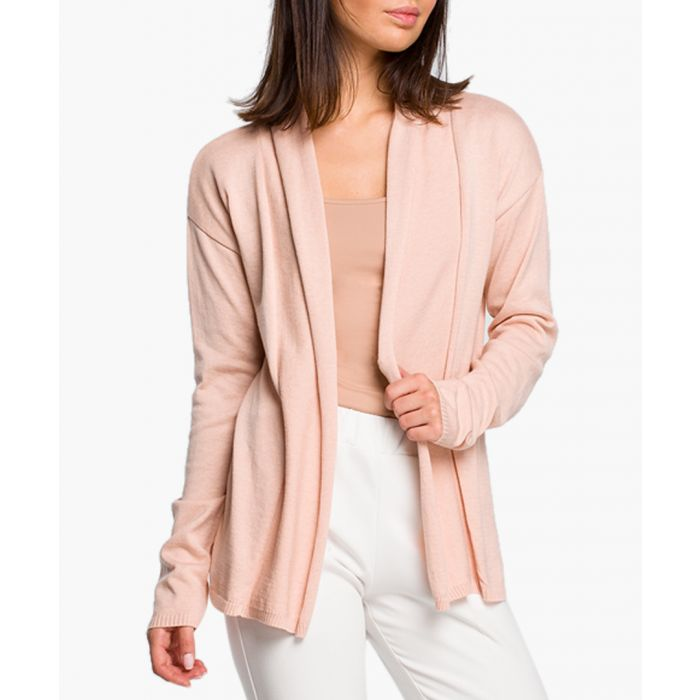 Image for Peach cotton blend cardigan