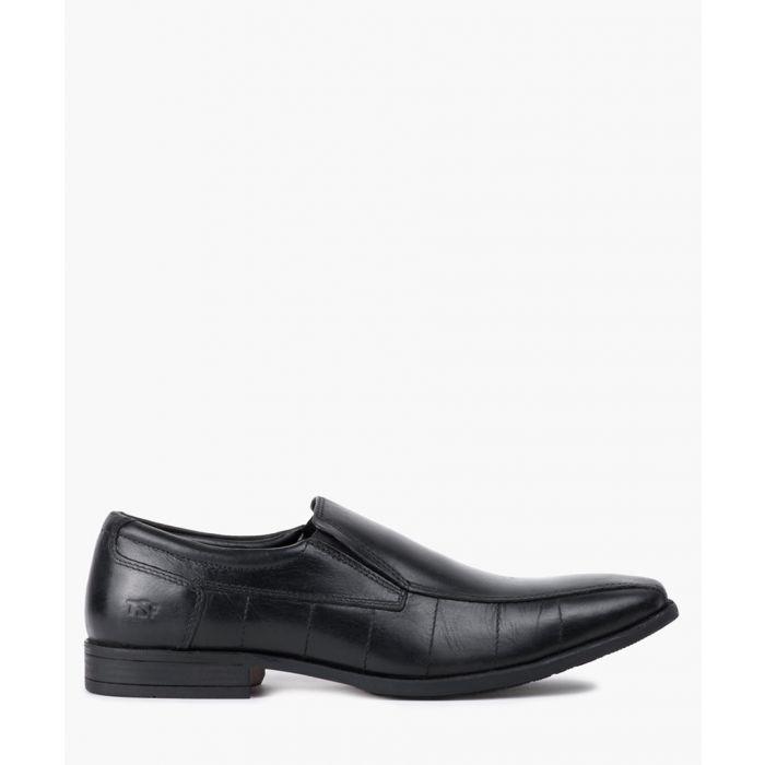 Image for Black leather slip-on shoes