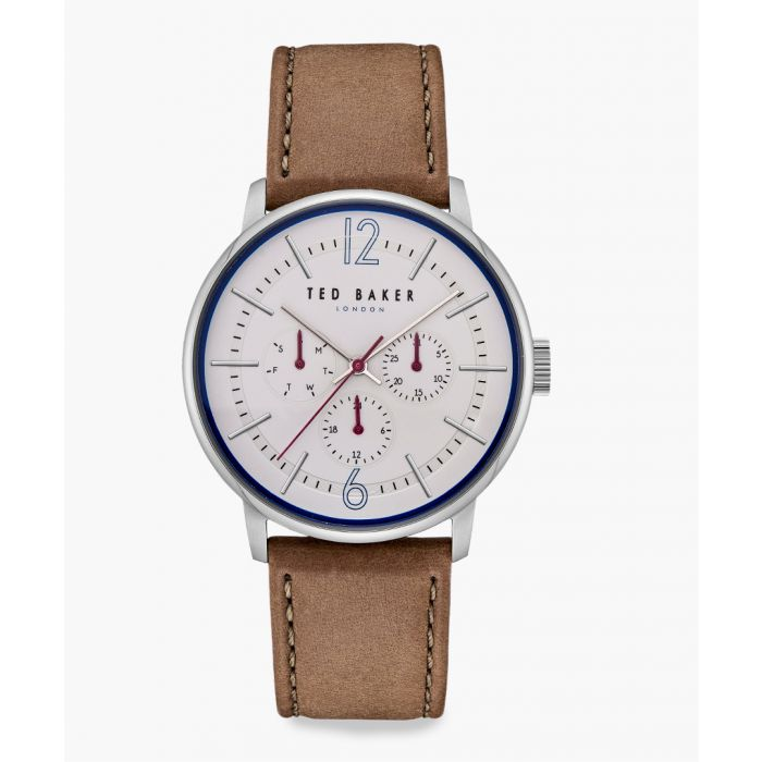 Image for Jason taupe leather and stainless steel watch