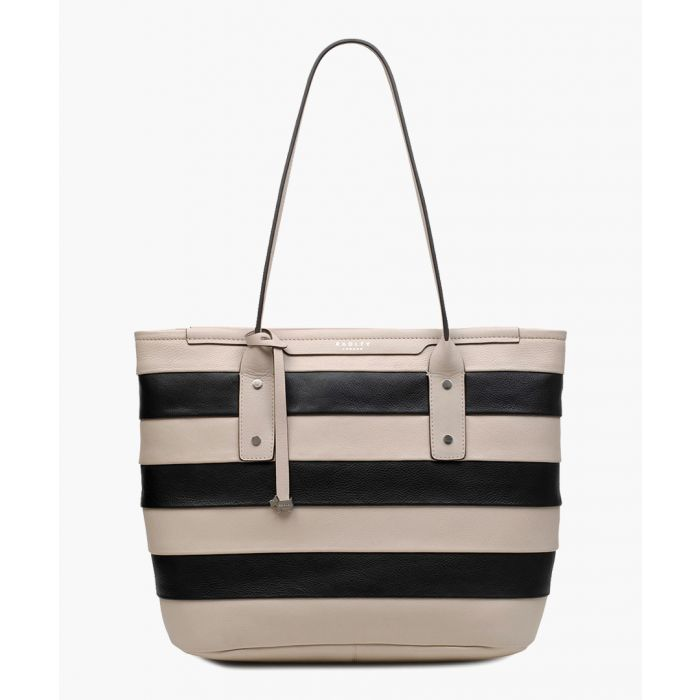 Image for Dove grey medium zip-top tote