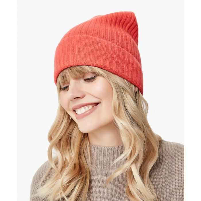 Image for Orange pure cashmere hat