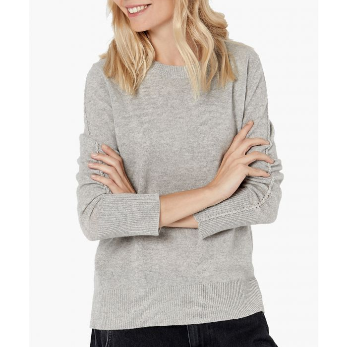 Image for Grey pure cashmere jumper