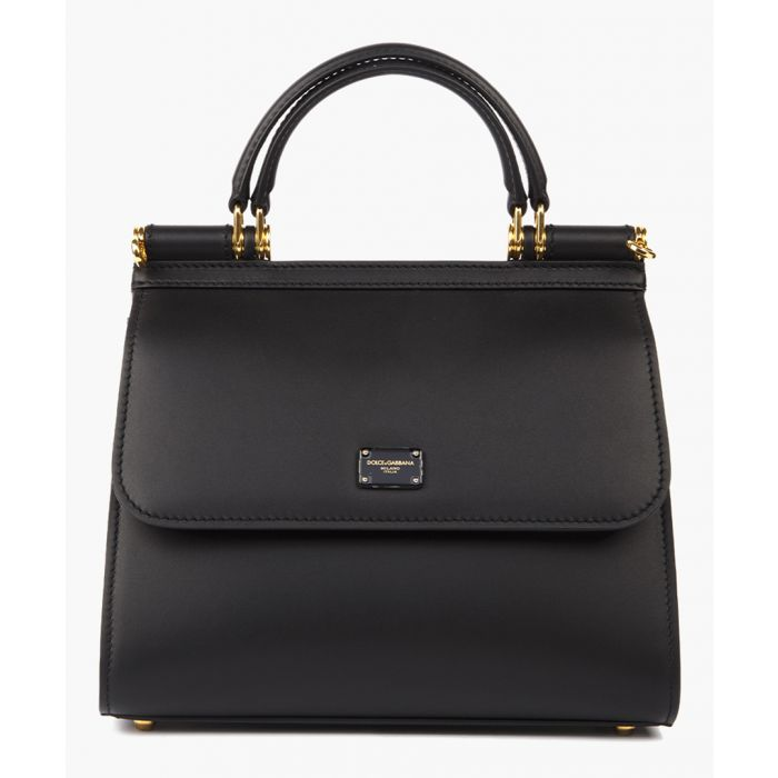 Image for Sicily 58 black leather small tote