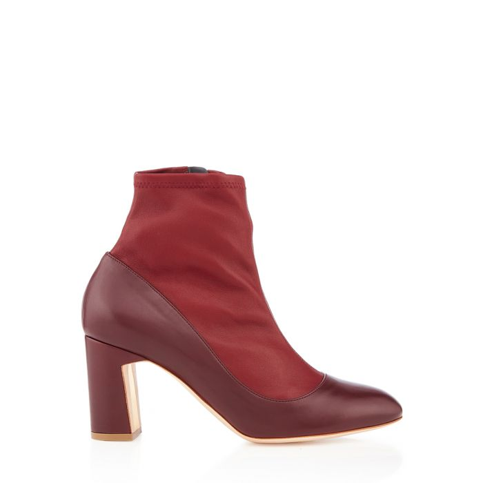 Image for Tamora prune nappa leather ankle boots