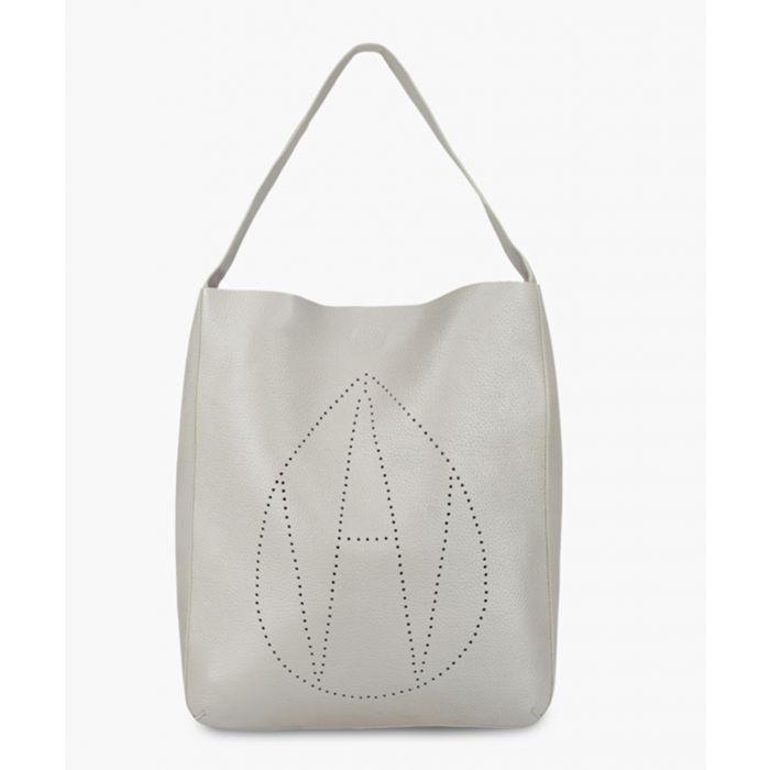 Image for Jovi silver-tone leather shoulder bag