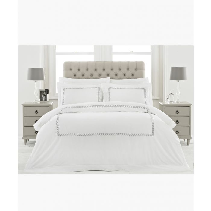 Image for Cleopatra silver-tone cotton king duvet cover set