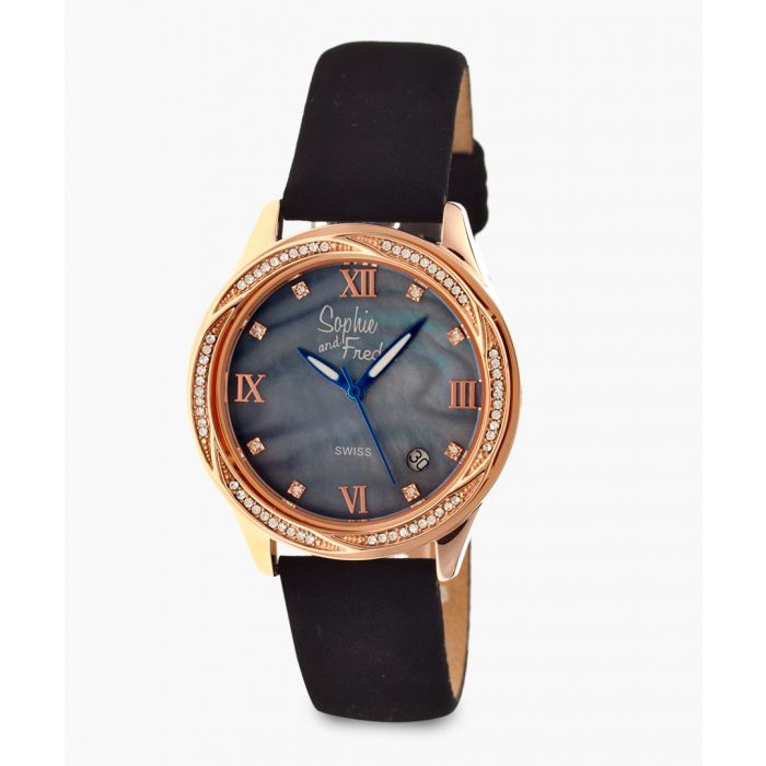 Image for Los Angeles black leather watch