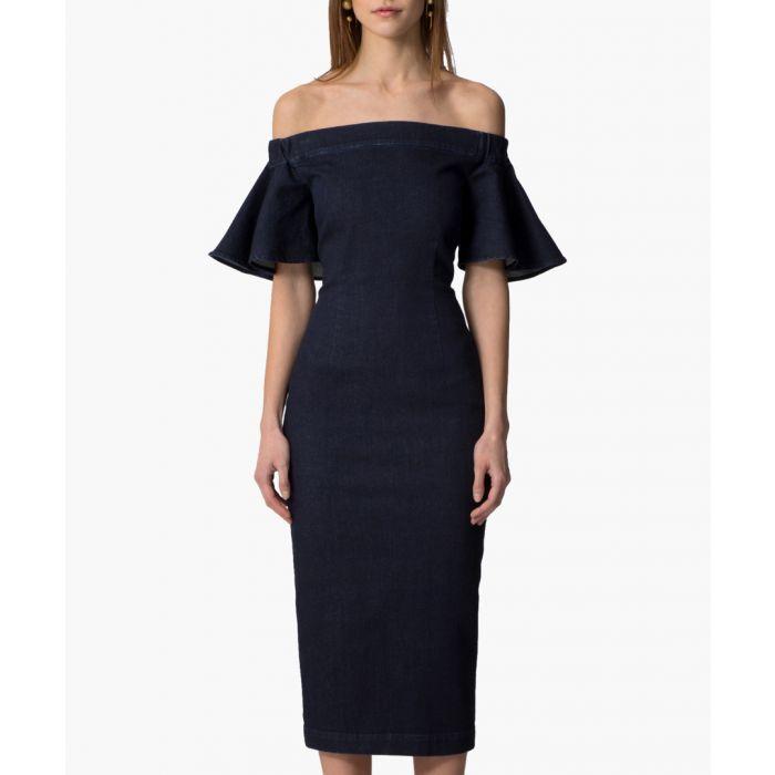Image for Denim Edie blue midi dress