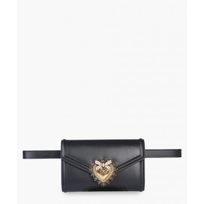 Image for Devotion black leather belt bag