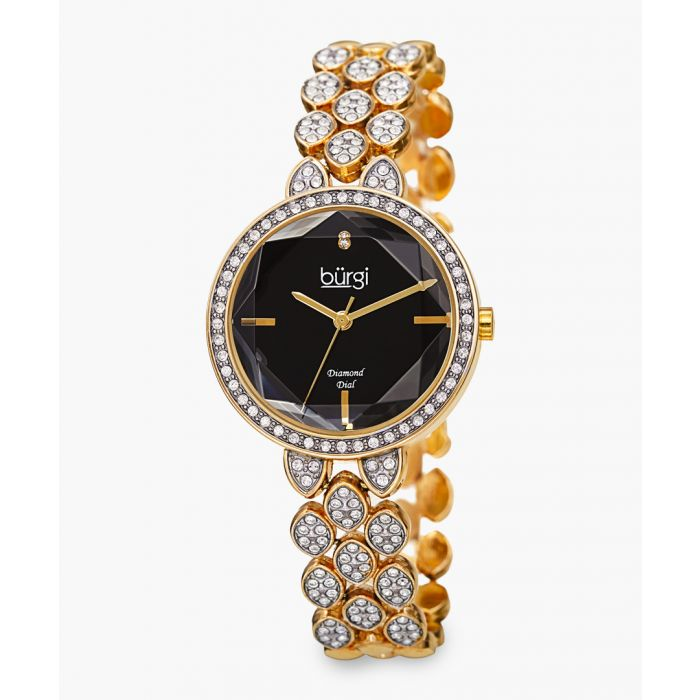 Image for Gold-tone and Swarovski crystal watch