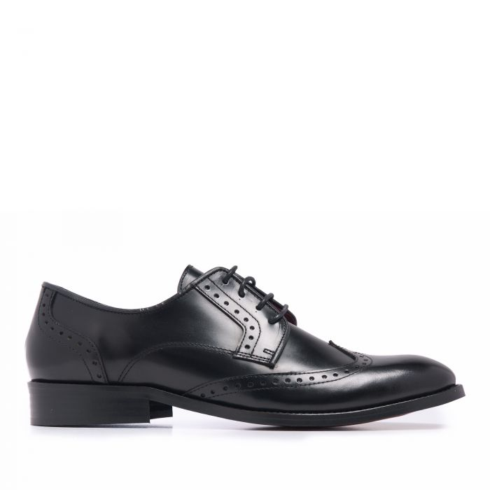 Image for Mens black leather blucher shoes