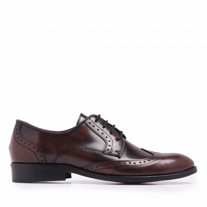 Image for Mens brown leather blucher shoes