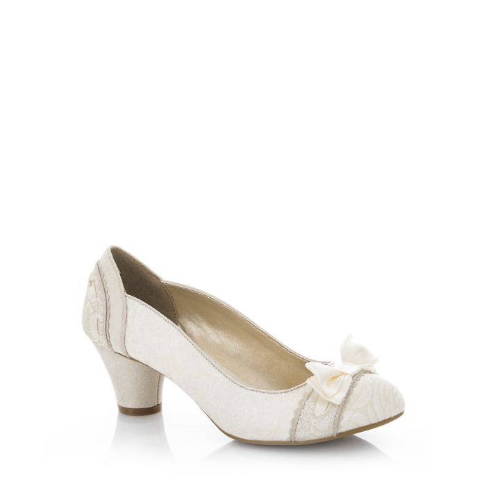 Image for Cream bow heels