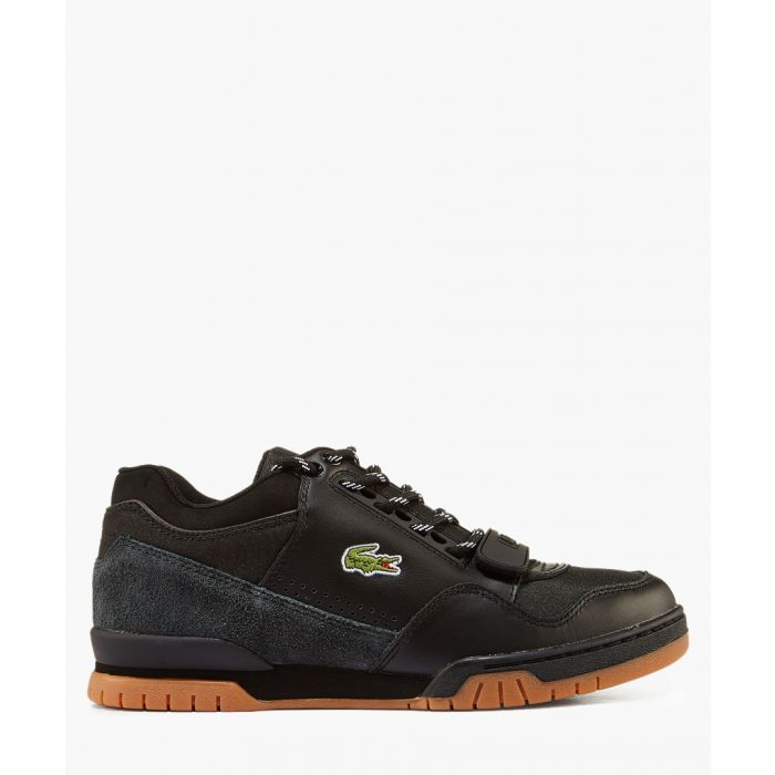 Image for Black & tan branded lace-up sneakers